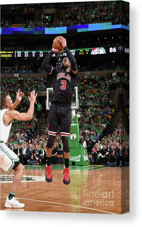 Playoffs Canvas Print featuring the photograph Dwyane Wade by Brian Babineau