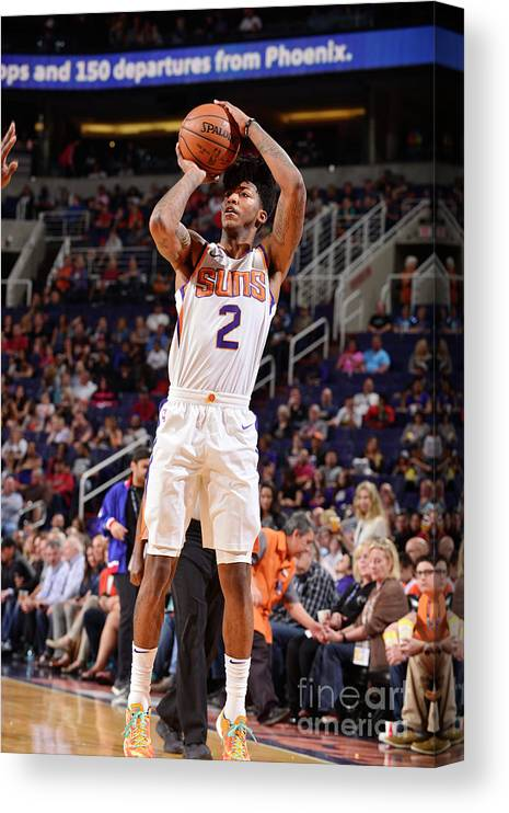 Sports Ball Canvas Print featuring the photograph Elfrid Payton by Barry Gossage