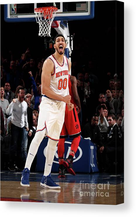 Nba Pro Basketball Canvas Print featuring the photograph Enes Kanter by Nathaniel S. Butler
