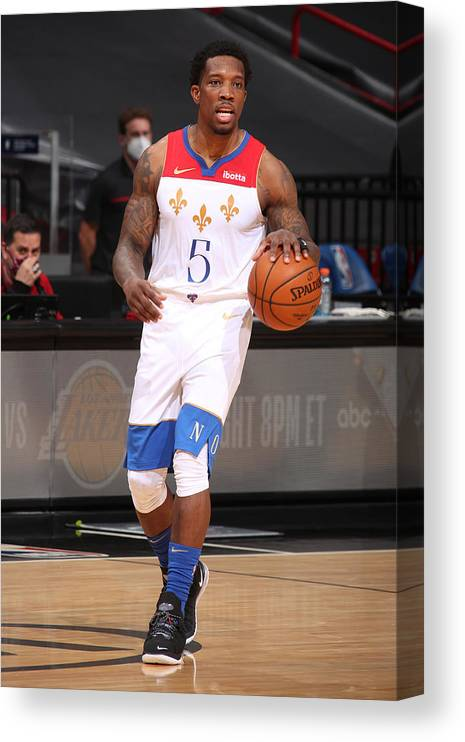 Nba Pro Basketball Canvas Print featuring the photograph Eric Bledsoe by Issac Baldizon