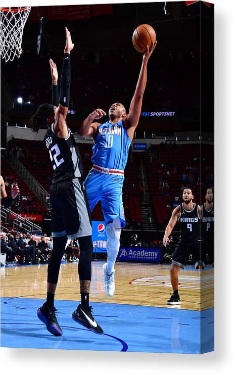 Nba Pro Basketball Canvas Print featuring the photograph Eric Gordon by Cato Cataldo