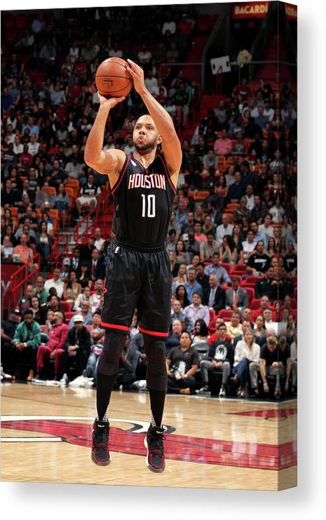 Nba Pro Basketball Canvas Print featuring the photograph Eric Gordon by Oscar Baldizon