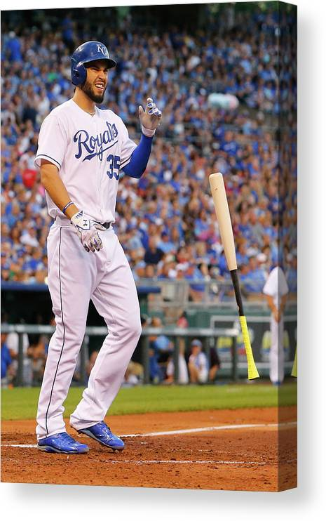 People Canvas Print featuring the photograph Eric Hosmer by Kyle Rivas