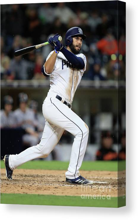 People Canvas Print featuring the photograph Eric Hosmer by Sean M. Haffey