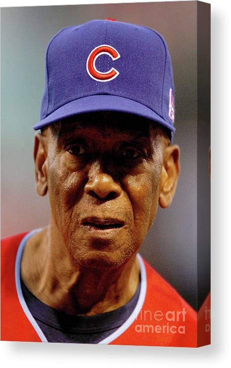 Softball Canvas Print featuring the photograph Ernie Banks by Dilip Vishwanat