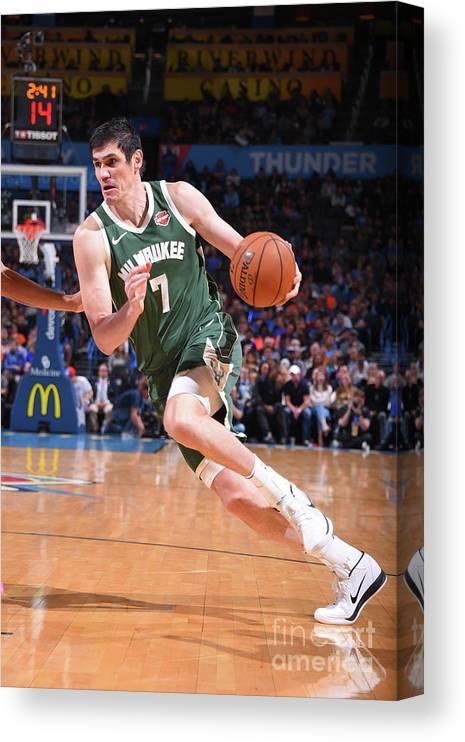 Nba Pro Basketball Canvas Print featuring the photograph Ersan Ilyasova by Bill Baptist