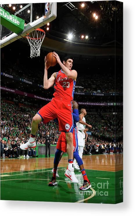 Playoffs Canvas Print featuring the photograph Ersan Ilyasova by Brian Babineau
