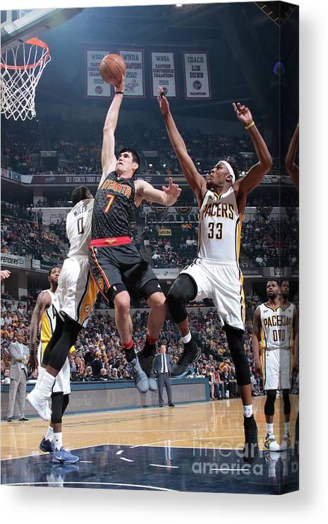 Nba Pro Basketball Canvas Print featuring the photograph Ersan Ilyasova by Ron Hoskins