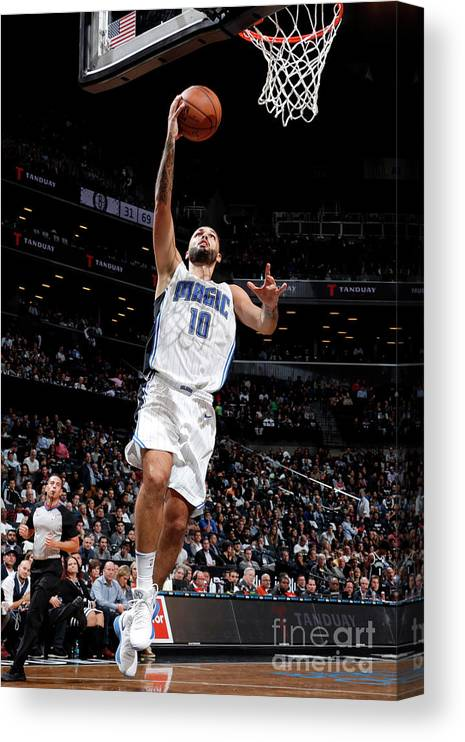 Nba Pro Basketball Canvas Print featuring the photograph Evan Fournier by Nathaniel S. Butler