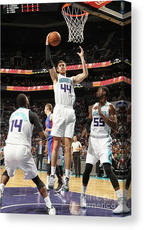 Nba Pro Basketball Canvas Print featuring the photograph Frank Kaminsky by Brock Williams-smith