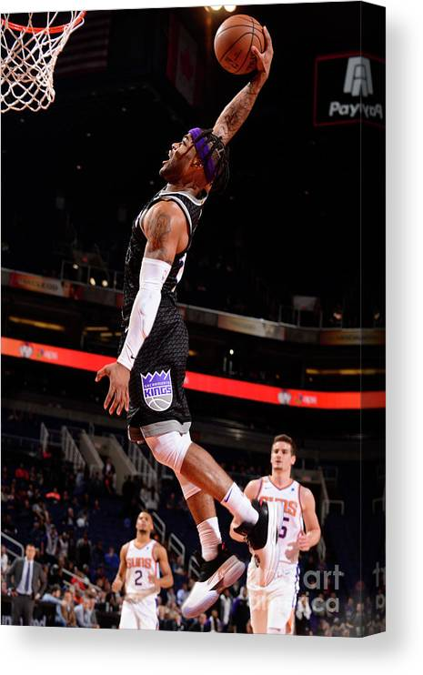 Nba Pro Basketball Canvas Print featuring the photograph Frank Mason by Barry Gossage