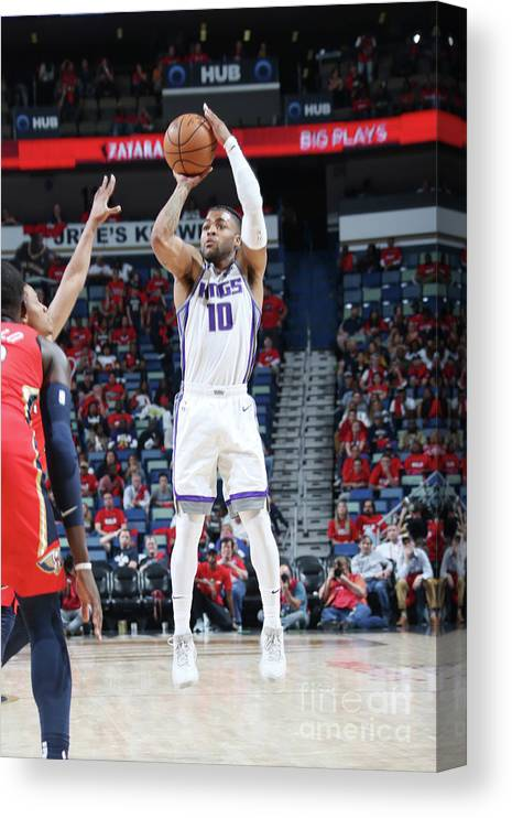 Smoothie King Center Canvas Print featuring the photograph Frank Mason by Layne Murdoch Jr.