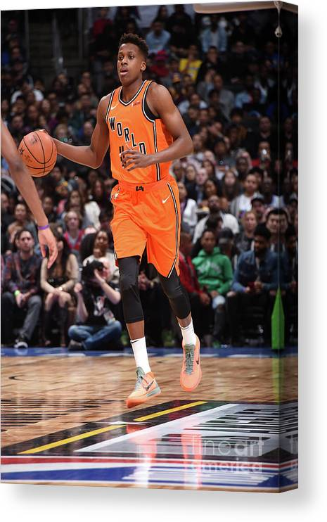 Event Canvas Print featuring the photograph Frank Ntilikina by Andrew D. Bernstein