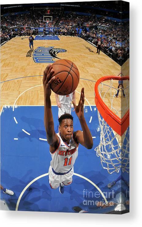 Nba Pro Basketball Canvas Print featuring the photograph Frank Ntilikina by Fernando Medina