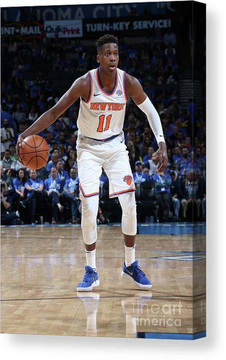 Nba Pro Basketball Canvas Print featuring the photograph Frank Ntilikina by Layne Murdoch