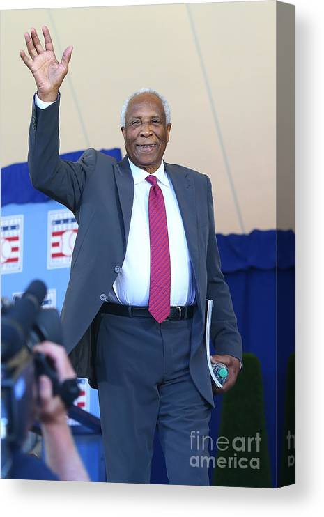 Three Quarter Length Canvas Print featuring the photograph Frank Robinson by Mike Stobe
