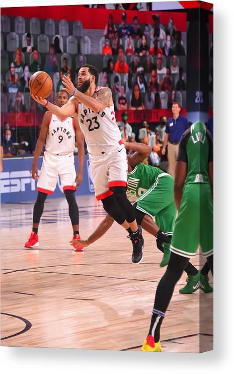 Nba Pro Basketball Canvas Print featuring the photograph Fred Vanvleet by Bill Baptist