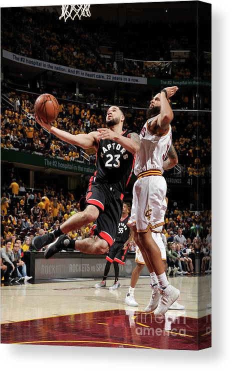 Playoffs Canvas Print featuring the photograph Fred Vanvleet by David Liam Kyle