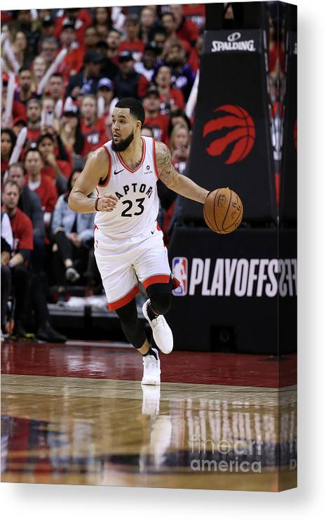 Playoffs Canvas Print featuring the photograph Fred Vanvleet by David Sherman