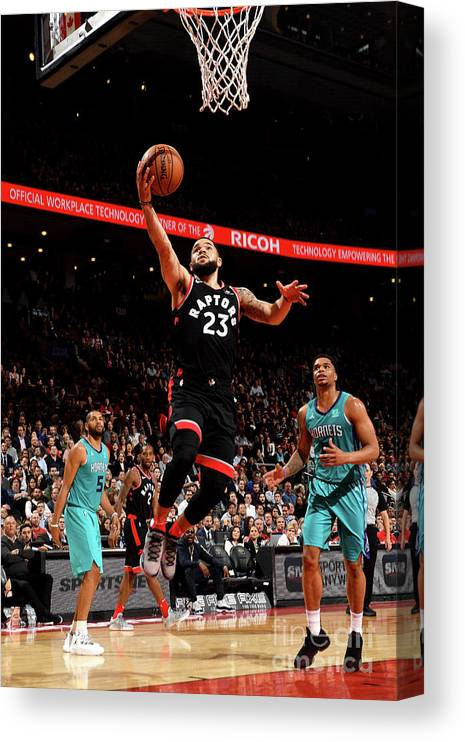 Nba Pro Basketball Canvas Print featuring the photograph Fred Vanvleet by Ron Turenne