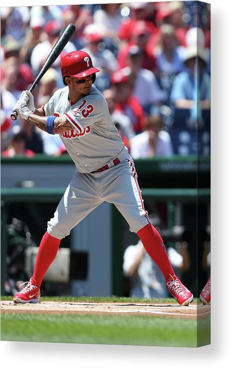 People Canvas Print featuring the photograph Freddy Galvis by Patrick Smith