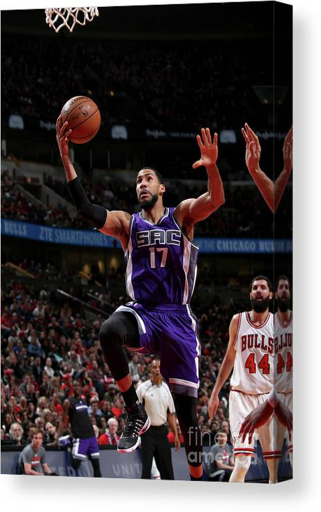 Nba Pro Basketball Canvas Print featuring the photograph Garrett Temple by Gary Dineen