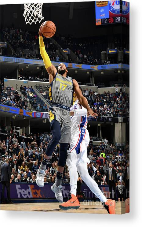 Nba Pro Basketball Canvas Print featuring the photograph Garrett Temple by Jesse D. Garrabrant