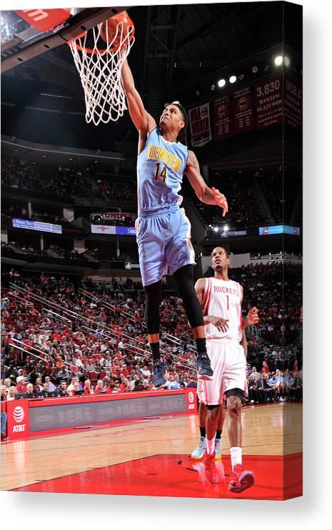 Nba Pro Basketball Canvas Print featuring the photograph Gary Harris by Bill Baptist