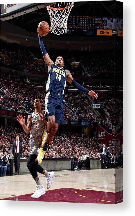 Nba Pro Basketball Canvas Print featuring the photograph Gary Harris by David Liam Kyle