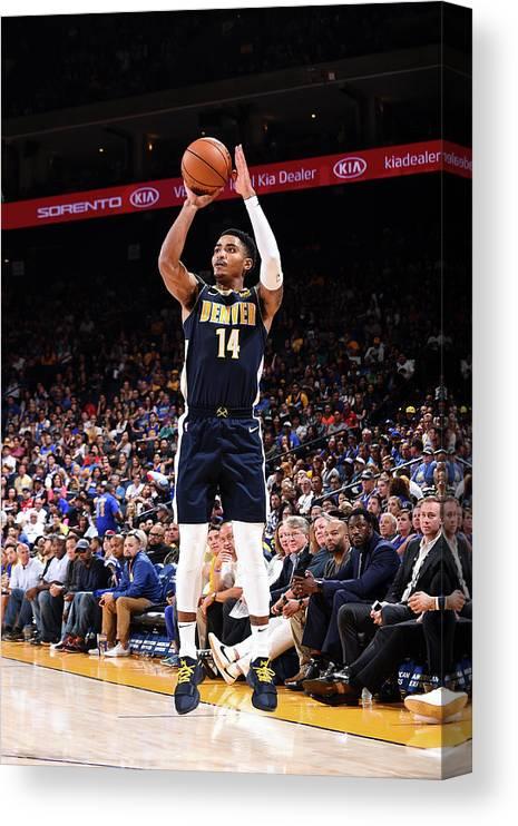 Nba Pro Basketball Canvas Print featuring the photograph Gary Harris by Noah Graham
