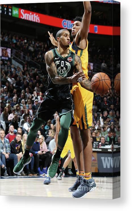 Nba Pro Basketball Canvas Print featuring the photograph Gary Payton by Melissa Majchrzak