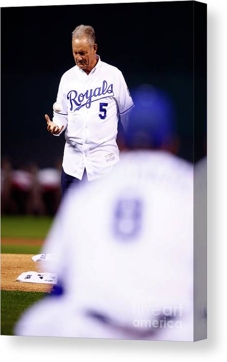 Three Quarter Length Canvas Print featuring the photograph George Brett by Jamie Squire