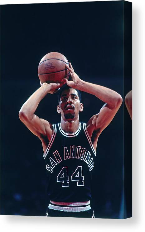 1980-1989 Canvas Print featuring the photograph George Gervin by Bill Baptist