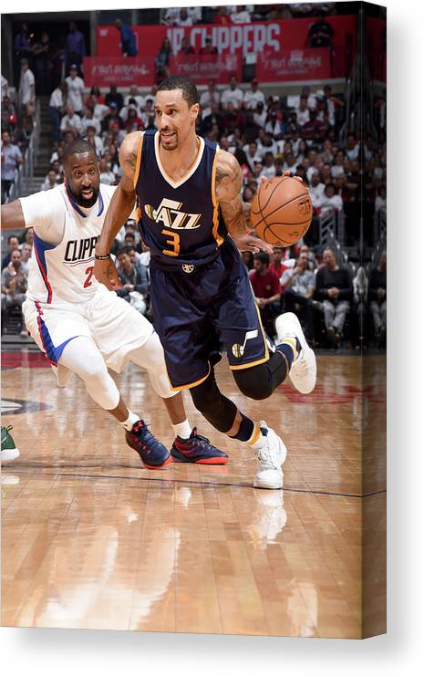 Playoffs Canvas Print featuring the photograph George Hill by Andrew D. Bernstein
