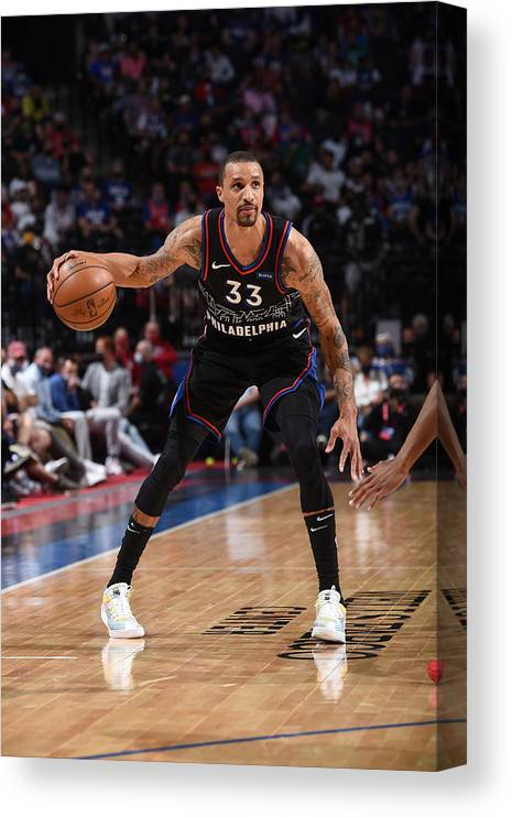 Playoffs Canvas Print featuring the photograph George Hill by David Dow