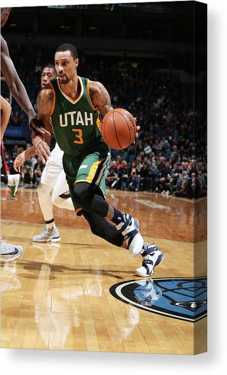 Nba Pro Basketball Canvas Print featuring the photograph George Hill by David Sherman