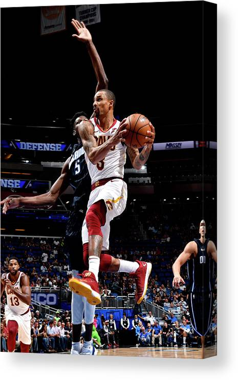 Nba Pro Basketball Canvas Print featuring the photograph George Hill by Fernando Medina