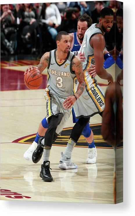 Nba Pro Basketball Canvas Print featuring the photograph George Hill by Jeff Haynes