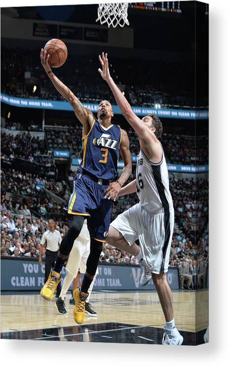 Nba Pro Basketball Canvas Print featuring the photograph George Hill by Mark Sobhani