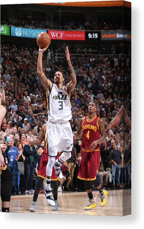 Nba Pro Basketball Canvas Print featuring the photograph George Hill by Nba Photos