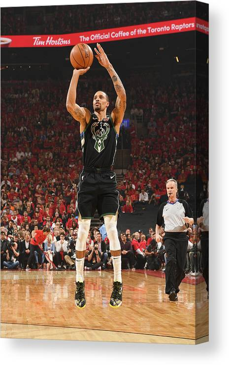 Nba Pro Basketball Canvas Print featuring the photograph George Hill by Ron Turenne
