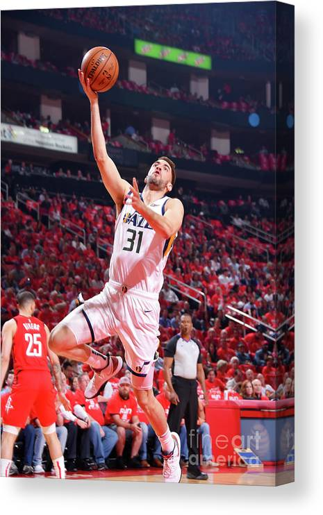 Playoffs Canvas Print featuring the photograph Georges Niang by Bill Baptist