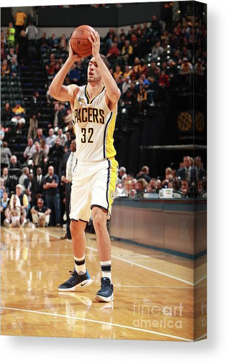 Nba Pro Basketball Canvas Print featuring the photograph Georges Niang by Jeff Haynes