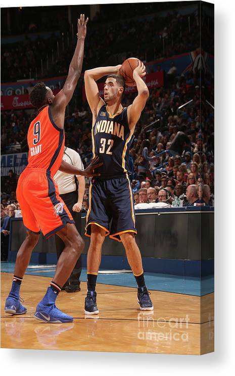 Nba Pro Basketball Canvas Print featuring the photograph Georges Niang by Layne Murdoch