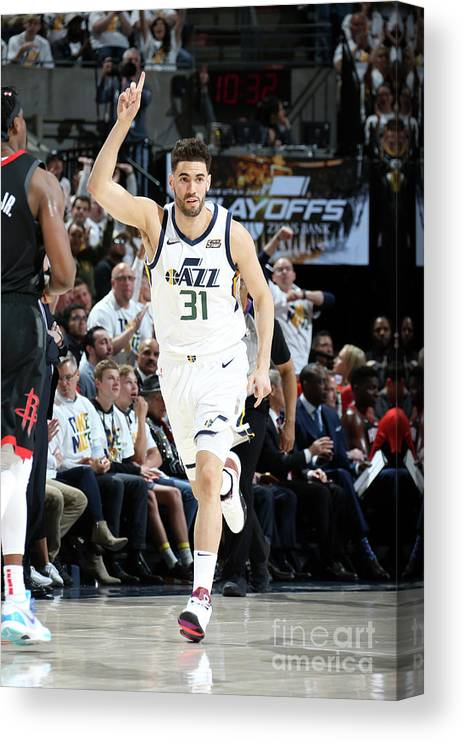 Playoffs Canvas Print featuring the photograph Georges Niang by Melissa Majchrzak