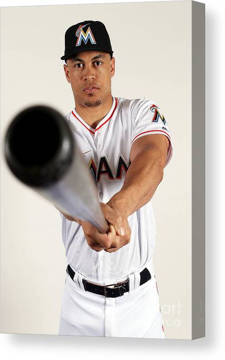 Media Day Canvas Print featuring the photograph Giancarlo Stanton by Marc Serota