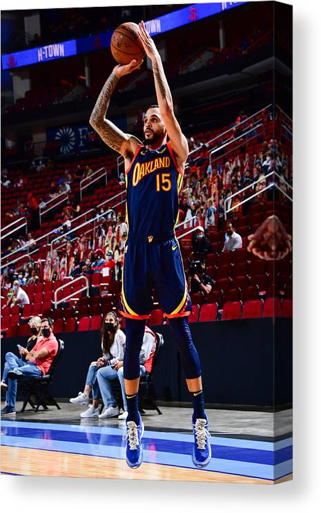 Mychal Mulder Canvas Print featuring the photograph Golden State Warriors v Houston Rockets by Cato Cataldo