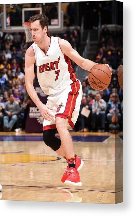 Nba Pro Basketball Canvas Print featuring the photograph Goran Dragic by Andrew D. Bernstein