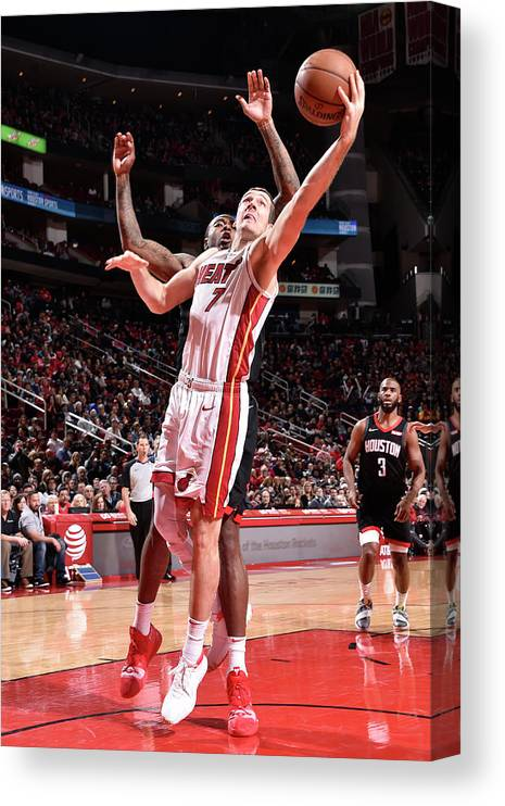 Nba Pro Basketball Canvas Print featuring the photograph Goran Dragic by Bill Baptist