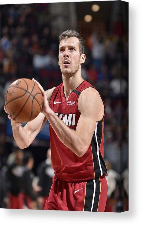 Nba Pro Basketball Canvas Print featuring the photograph Goran Dragic by David Liam Kyle